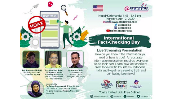 Live Streaming Presentation on International Fact-Checking Day